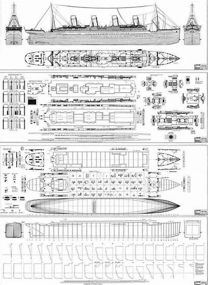 Titanic Ship Blueprints Rms Papercraft Plans Boat