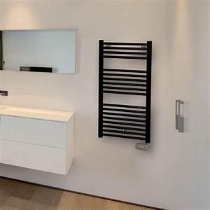seche serviettes electrique rond 50cm 500w 3 coloris au choix With chauffer une salle de bain avec un seche serviette
