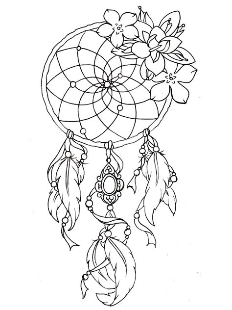dreamcatcher tattoo designs tattoos adult coloring pages