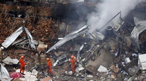 Rio De Janeiro Buildings Destroyed By Suspected Gas Blast