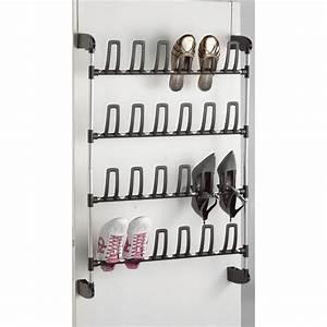 Range Chaussures De Porte : range chaussures de porte 12 paires achat vente panneau de rangement acier pvc polym re ~ Melissatoandfro.com Idées de Décoration
