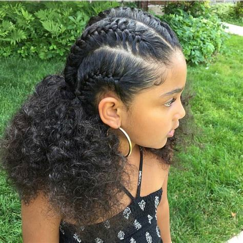 braided hairstyles for mixed hair braids cornrows mixed hair little girl jordan s hair