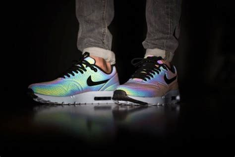 Shoes, Sneakers, Holographic, Nike, White, Black