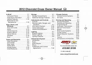 2012 Chevy Cruze Parts Diagram