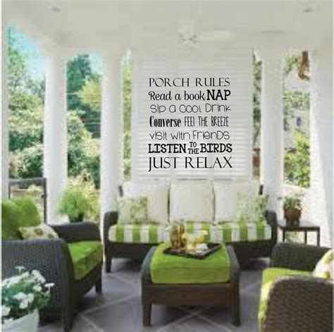 Porch Wall Decor by Porch Front Or Back Porch Vinyl Decal Wall Decor