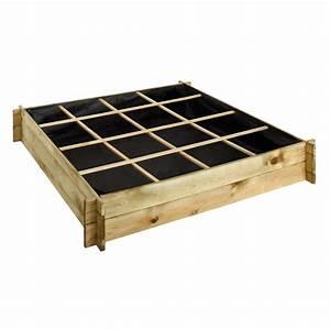 Carré Potager Gamm Vert : carr potager bois trait l134 l134 cm cardon 123x29x11 cm ~ Dailycaller-alerts.com Idées de Décoration
