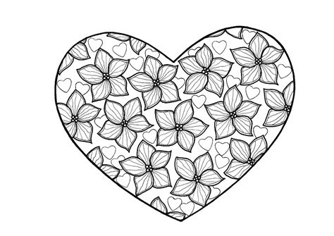 true love heart adult coloring page thriftyfun