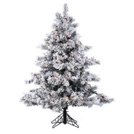 walnart 4 ft pre lit rose tinsel christmas tree northlight 4 5 ft pre lit flocked alaskan artificial tree clear lights walmart