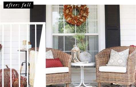 My Fall Porch with Wayfair The Blissful Bee Decor