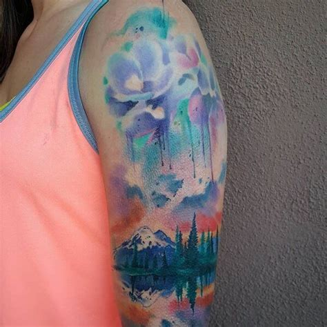 50 Watercolor Tattoo Designs That Totally Tell a Story Of