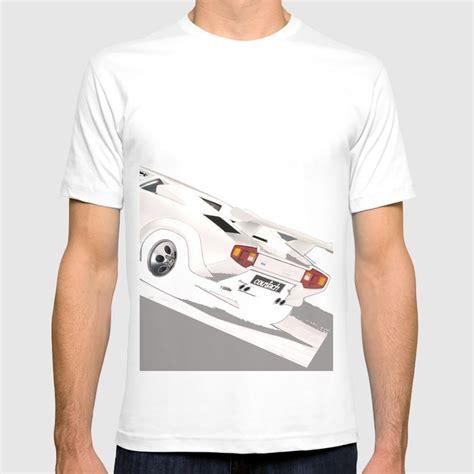 white lamborghini countach   shirt