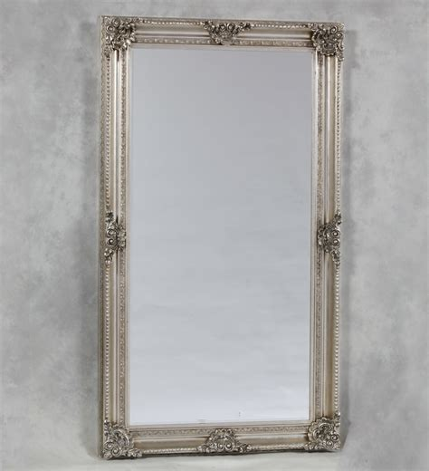 Extra Large Silver Rectangular Classic Mirror  The House