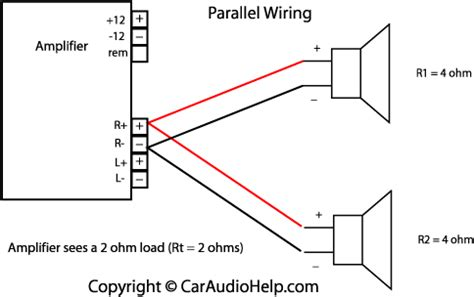 speaker wiring diagram series vs parallel ohm load 50