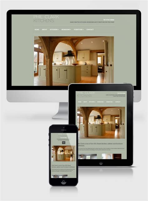 New Mobile Friendly Website For Phil Clark Kitchens