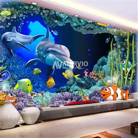 jual wallpaper dinding custom gambar bawah laut