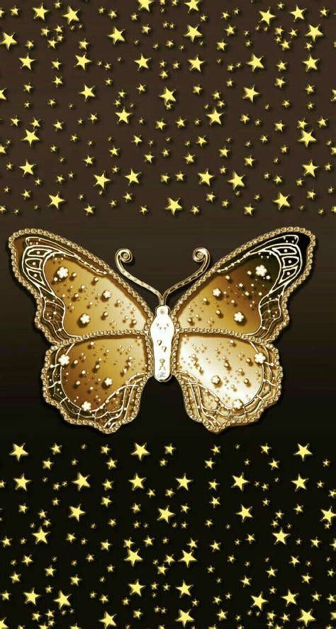 pin  becky  color brown gold butterfly wallpaper