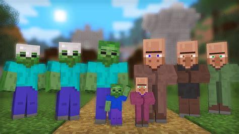 minecraft villager zombie vs animation clipzui army villiger mob battles massive