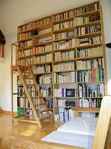Bibliotheque Bois Clair : escabeau escalier de bibliotheque atelier de l 39 b niste c cognard eure restaurateur fabricant ~ Teatrodelosmanantiales.com Idées de Décoration