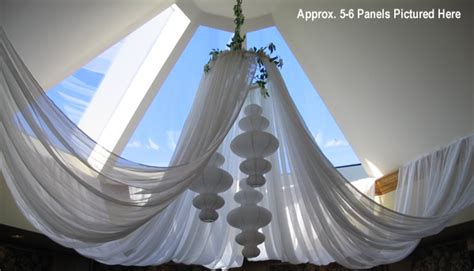sheer ceiling draping kits event decor direct