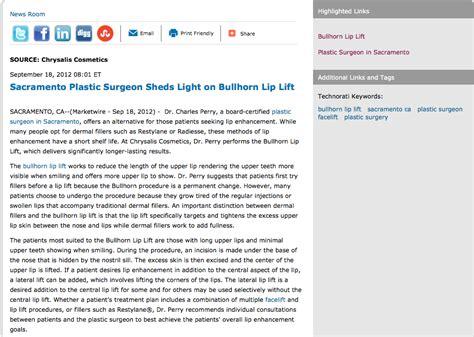 plastic surgeon  sacramento talks  bullhorn lip lift