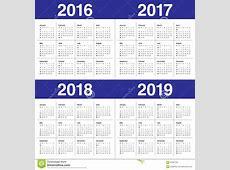 Kalender 2016 2017 2018 2019 Stockbild Bild 61291755