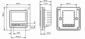 Htw T5000 Lcd Digital Fan Coil Thermostats