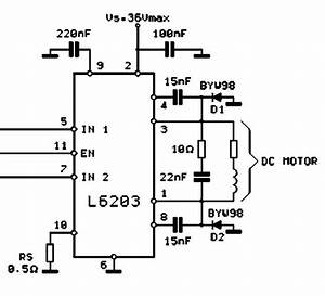 mechatronica With dc motor driver with l6203