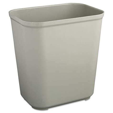 rubbermaid commercial products  gal grey rectangular fire resistant trash  rcpgra