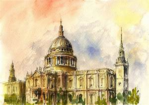St Paul Cathedral Painting by Juan Bosco