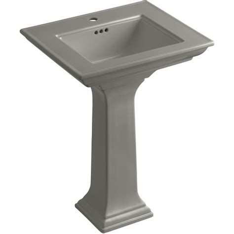 memoirs pedestal sink specs shop kohler memoirs 34 75 in h clay pedestal