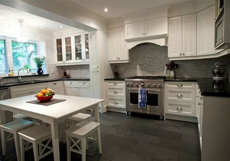 cool kitchen designs  gray floors