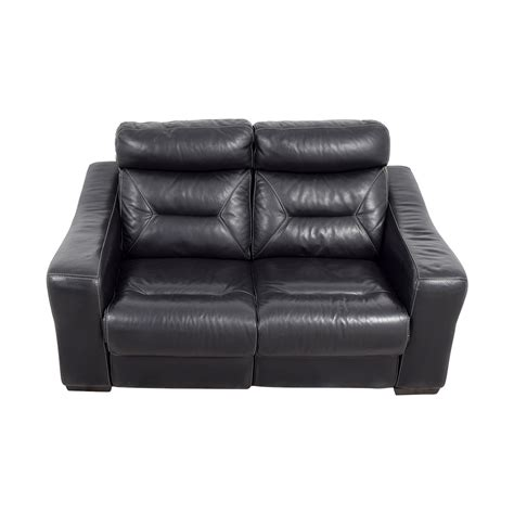 darrin leather reclining sofa with console black leather recliner traditional arm chair with