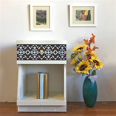 dresser and matching nightstand in antique white brown