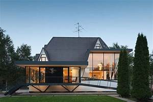 Modern European Cottage Style House With Arched Top-Floor