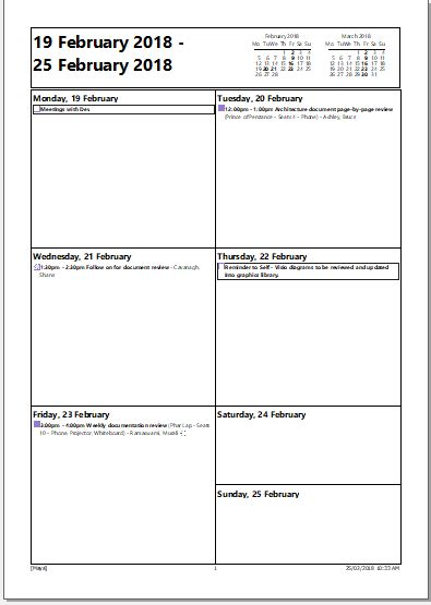 outlook print calendar options  dailyweeklymonthly