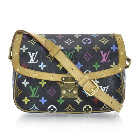 louis vuitton monogram multicolor sologne black