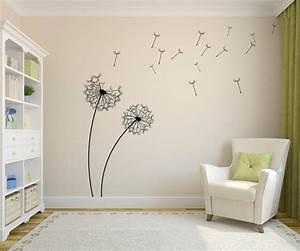 stickers muraux en 55 photos pour personnaliser les murs With chambre bébé design avec stickers fleur de pissenlit