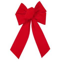 outdoor bright red velvet bows 2 5