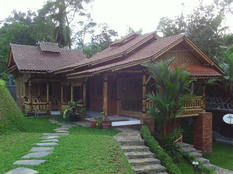 kumpulan rumah bambu  keren abis rumahku surgaku