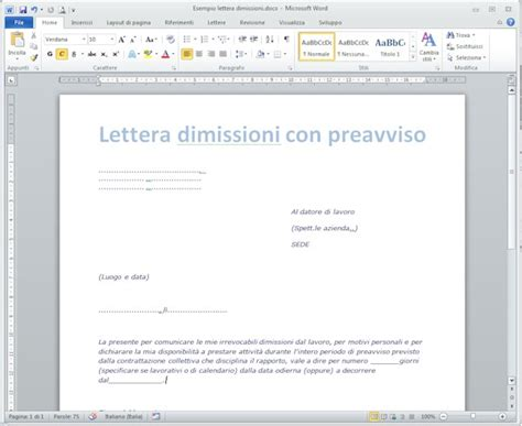 Lettere Dimissioni Volontarie by Esempio Lettera Dimissioni Come Leggere La Busta Paga