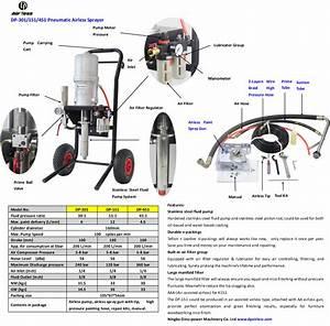 Pneumatic airless sprayers, stainless steel fluid pump,Air