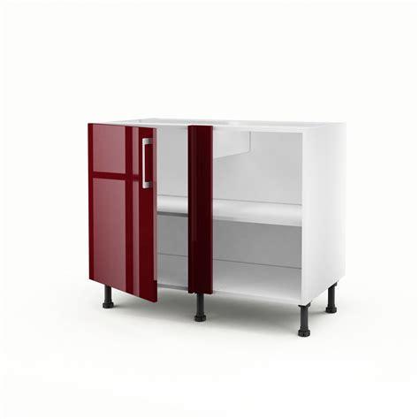 meuble d angle cuisine meuble de cuisine bas d angle 1 porte griotte h 70 x l 100 x p 56 cm leroy merlin