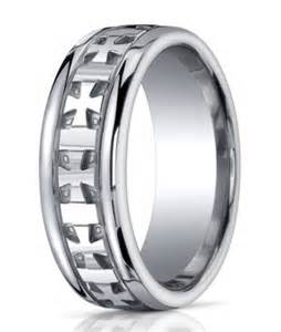 mens wedding rings with crosses argentium silver 39 s wedding ring christian cross promise band