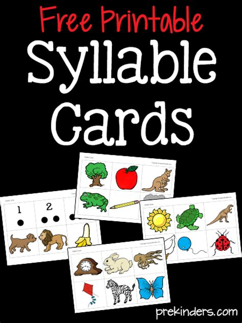 phonological awareness activities for pre k and preschool 980 | syllable cards printable2