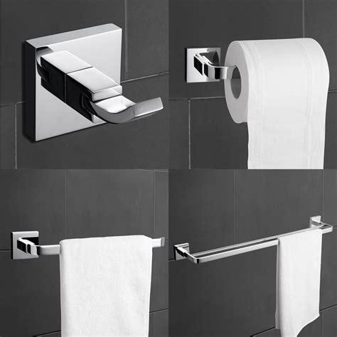 Modern Bathroom Hardware modern brass chrome finish bathroom accessory sets 4