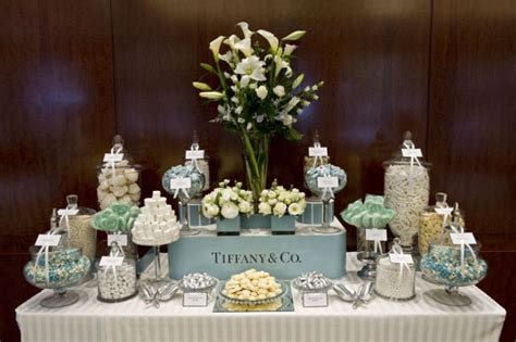tiffany buffet table ls sweet and sophisticated candy buffet table pinterest