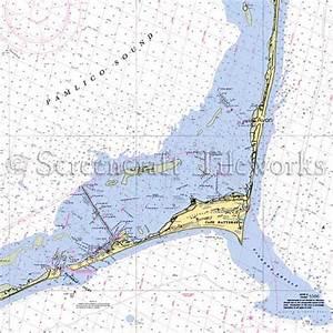 North Carolina Avon Hatteras Island Nautical Chart Decor