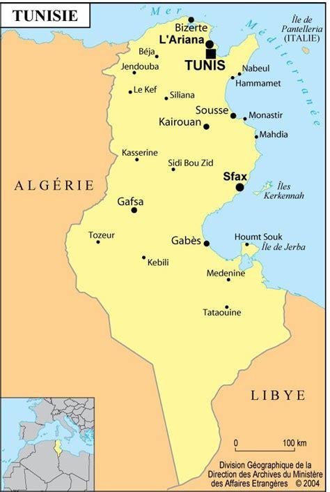 Carte De Tunisie Avec Villes by Carte De La Tunisie Plusieurs Cartes De La Tunisie