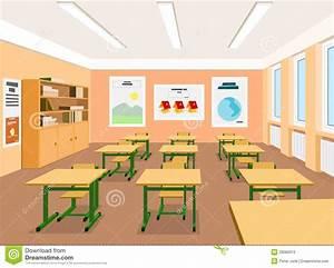 Illustratie Van Een Leeg Klaslokaal Vector Illustratie ...