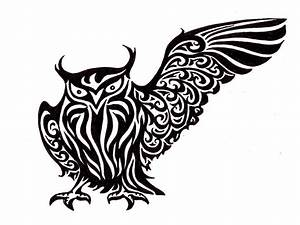 Tribal Owl Design - ClipArt Best